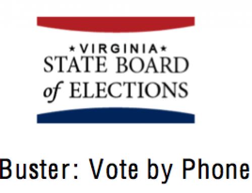 Alert: Vote-by-phone Scam