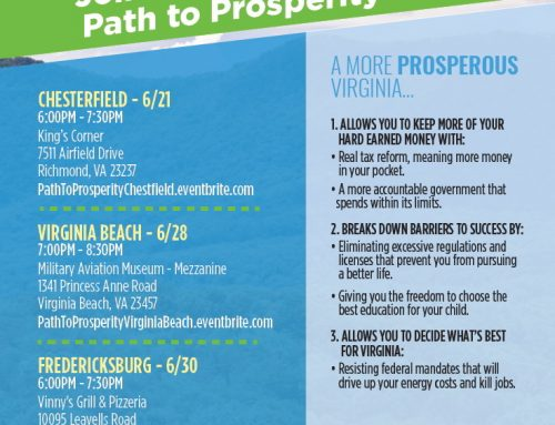 Reminder: Path to Prosperity Event in Chesterfield Tuesday!