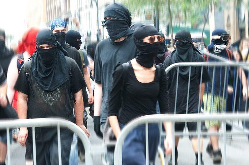 Leftist rioters