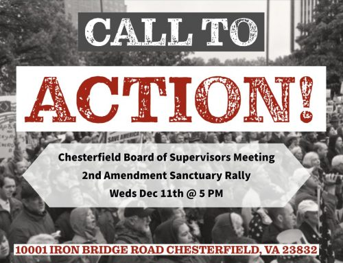 CALL TO ACTION: Chesterfield County Board of Supervisors 2A Rally TODAY 5PM