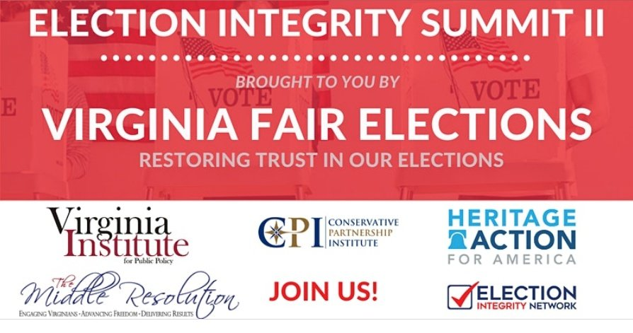 Election Integrity Summit Banner